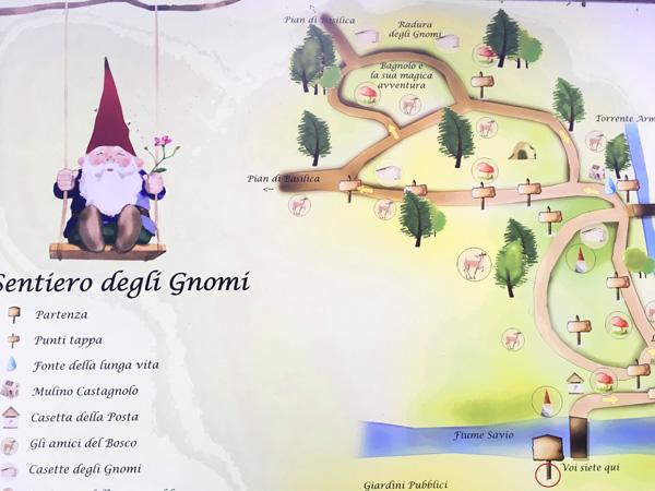 mappa sentiero gnomi