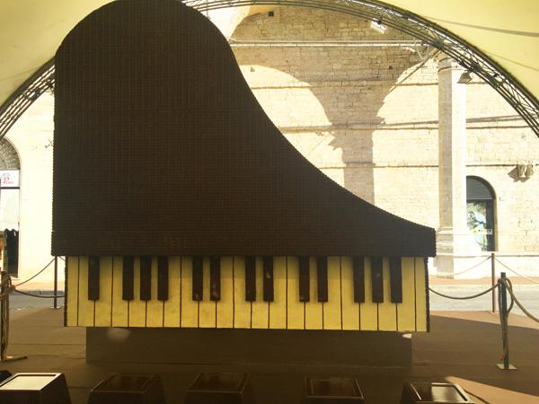 pianoforte cioccolato Eurochocolate