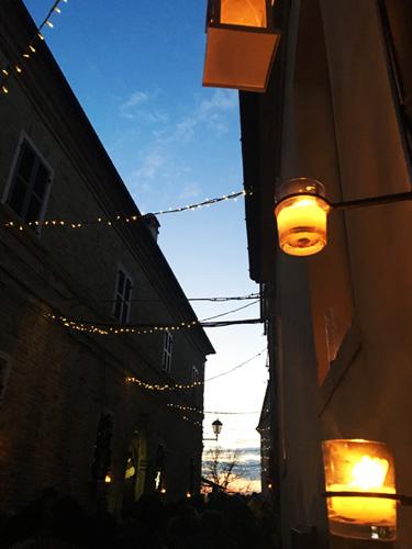 candele di notte a candelara