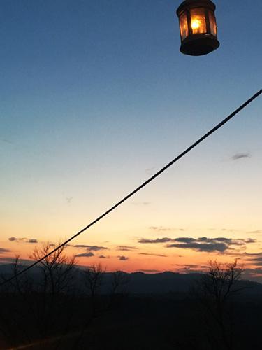 tramonto a candelara