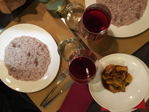 Sorij Nouveau Torino: agnolotti al plin e risotto al vino