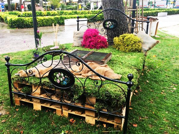 letto di fiori giardini d'autore