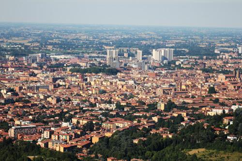 vista panoramica san luca bologna