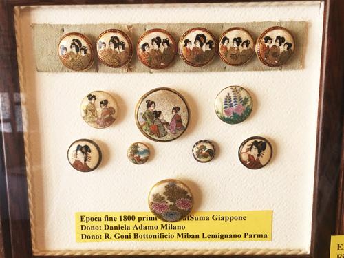 giappone raffigurato al museo del bottone