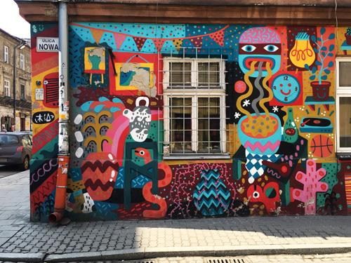 murales kazimierz cracovia