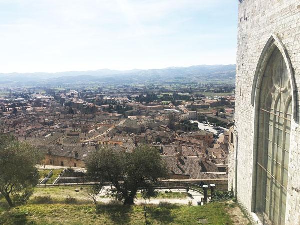 Cosa vedere a Gubbio: Gubbio dall'alto