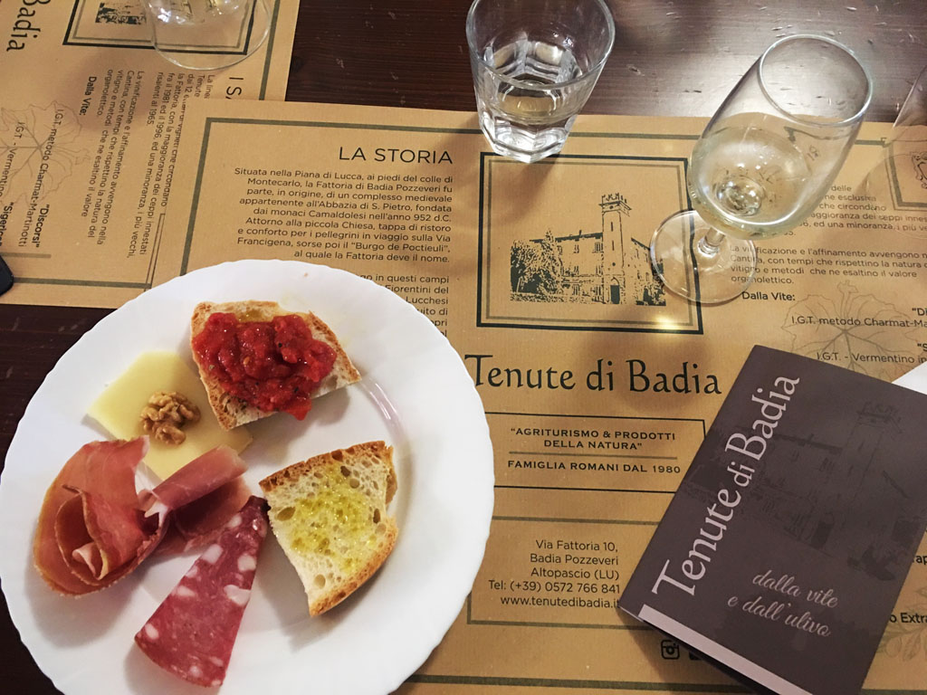 Dove mangiare a Lucca: Agriturismo Tenute Badia