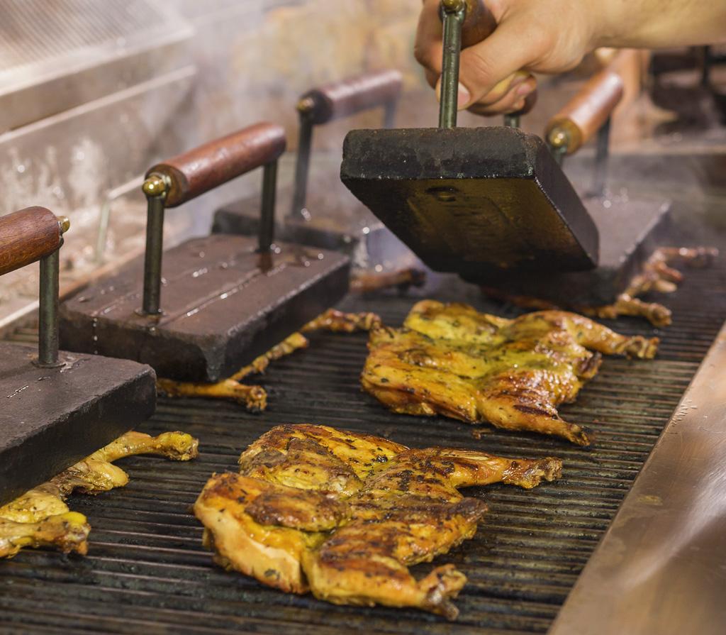 ristoranti in romagna: galletto al mattone