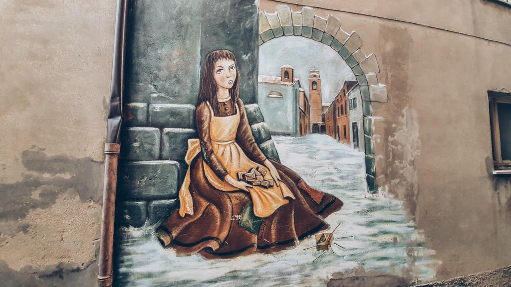 borgo dei murales: saludecio