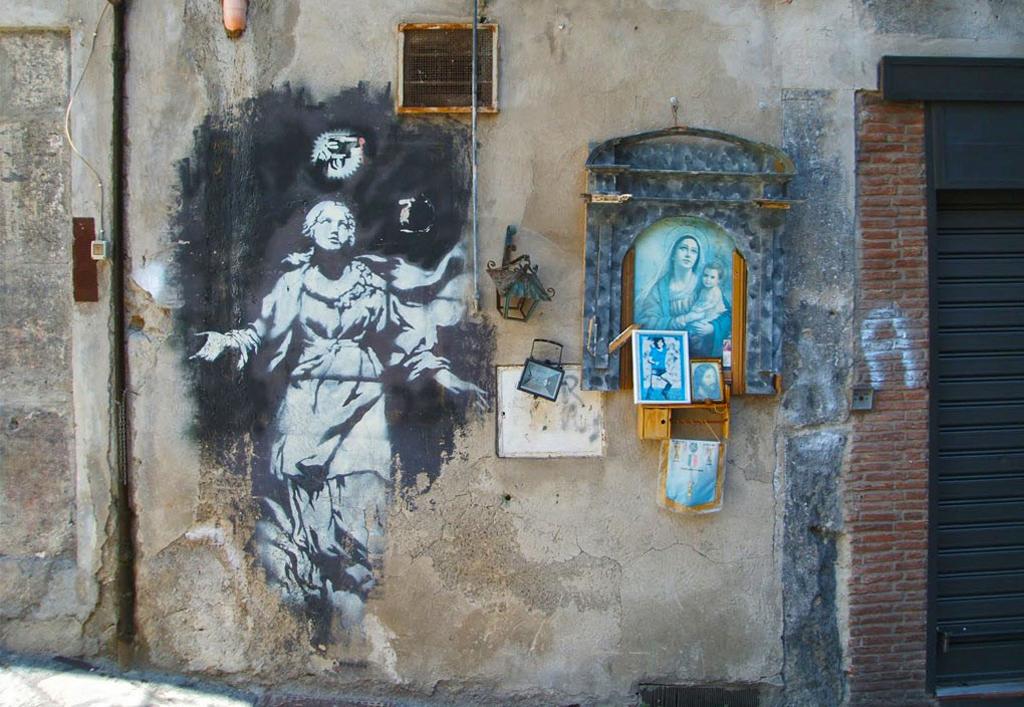 opere di bansky in italia